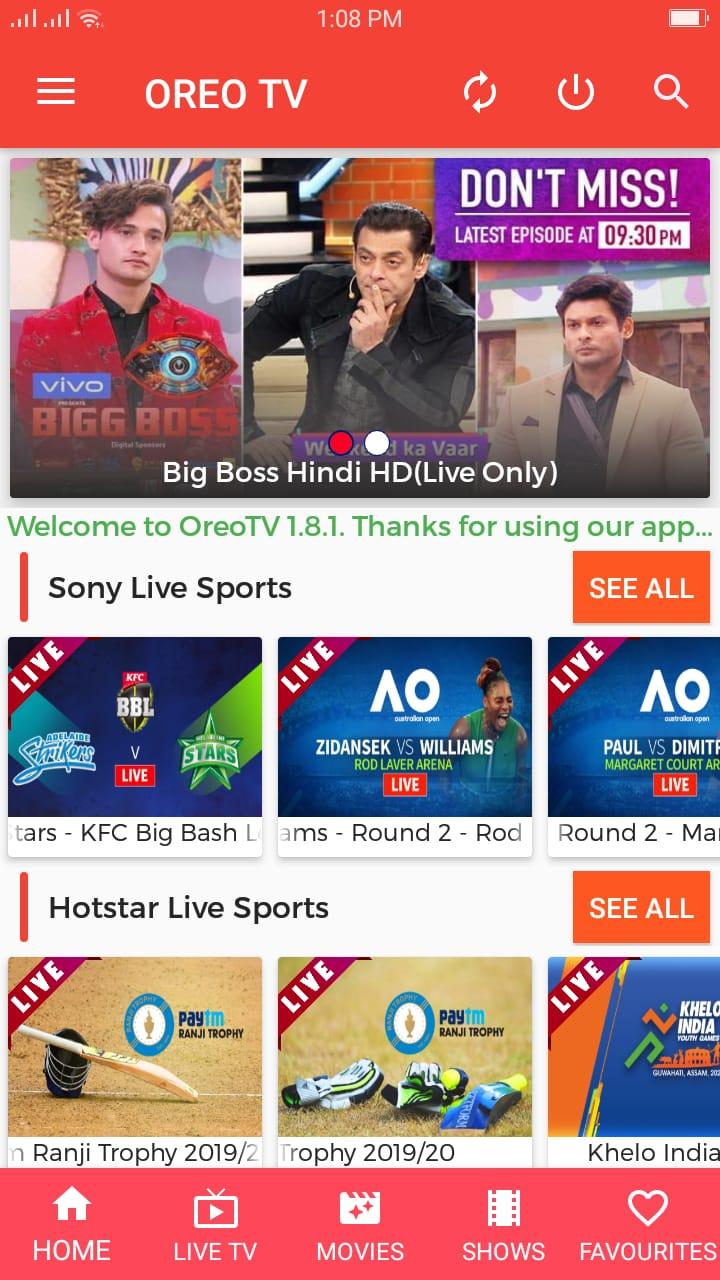 Oreo TV Live Shows