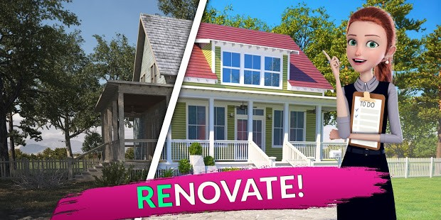 Flip This House 3D Home Design Games MOD APK android 1.69
