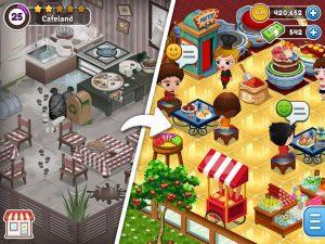 Cafeland World Kitchen MOD APK Android 2.1.38 Screenshot