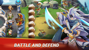 Castle Defender Hero Idle Defense TD MOD APK Android 1.3.4 Screenshot