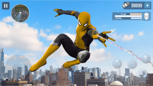 Spider Rope Hero Gangster New York City MOD APK Android 1.0.15 Screenshot