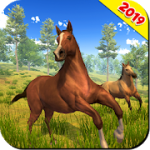 Wild Horse Family Simulator Horse Games MOD APK android 1.1.9