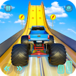 Monster Truck Mega Ramp Stunts Extreme Stunt Games MOD APK android 1.38