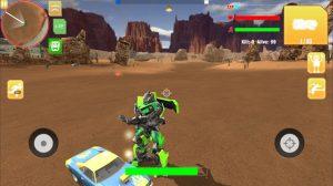 Robot war free fire survival battleground squad mod apk android 1.0 screenshot