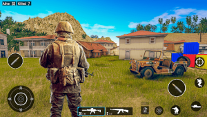 Real commando mission free shooting games 2021 mod apk android 5.1 screenshot