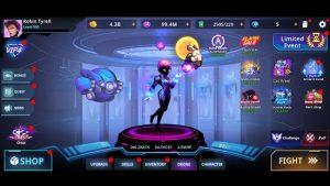Cyber fighters league of cyberpunk stickman 2077 mod apk android 1.11.60 screenshot
