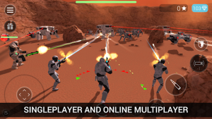 Cybersphere tps online action shooting game mod apk android 2.46 screenshot