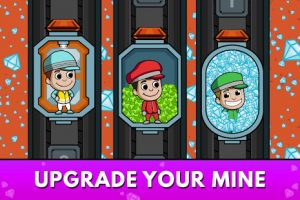 Idle miner tycoon mine & money clicker management mod apk android 3.55.0 screenshot