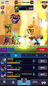 Idle stickman heroes monster age mod apk android 1.0.26 screenshot