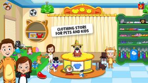 My town pets, animal game for kids mod apk android 1.02 screenshot
