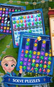 Disney frozen free fall play frozen puzzle games mod apk android 10.7.0 screenshot