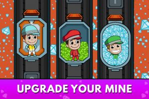 Idle miner tycoon mine & money clicker management mod apk android 3.58.1 screenshot