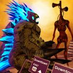 Monster Smash City  Godzilla vs Siren Head MOD APK android 1.0.4