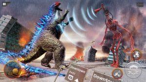 Monster smash city godzilla vs siren head mod apk android 1.0.4 screenshot