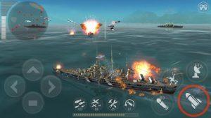 Warship battle 3d world war ii mod apk android 3.3.8 screenshot
