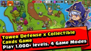 Crazy defense heroes tower defense strategy game mod apk android 3.5.5 screenshot