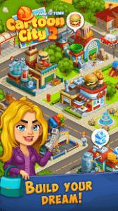 Cartoon city 2 farm to town build dream home mod apk android 2.32 screenshot